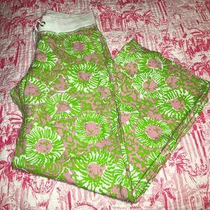 "EUC Lilly Pulitzer beach pants ""Sunnyside"" large"